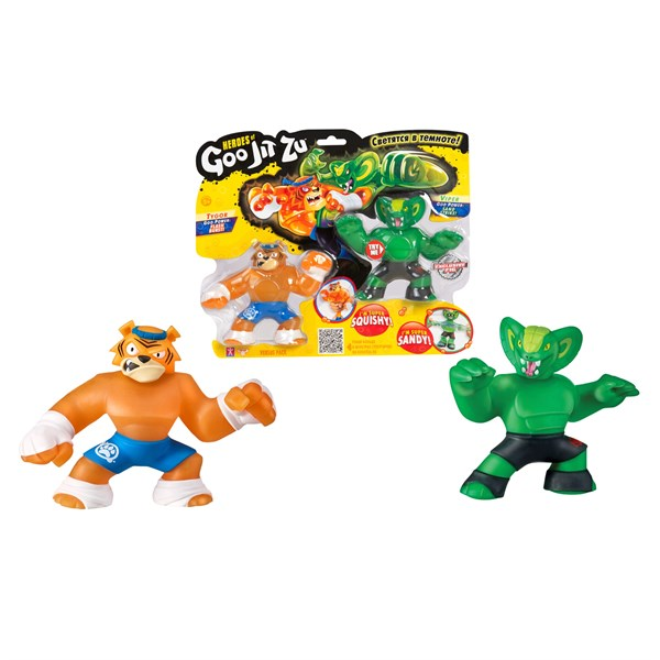 Гуджитсу. Игр.набор тянущихся фигурок Тайгор и Вайпер. ТМ GooJitZu - фото 8217