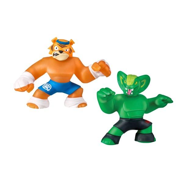 Гуджитсу. Игр.набор тянущихся фигурок Тайгор и Вайпер. ТМ GooJitZu - фото 8218