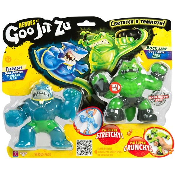 Гуджитсу. Игр.набор тянущихся фигурок Траш и Рок Джо. ТМ GooJitZu - фото 8228