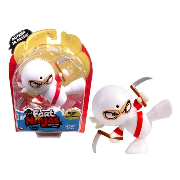 "Фарт Ниндзя.Игрушка ""Пукающий"" Ниндзя белый с серпами.TM Fart Ninjas - фото 8294"