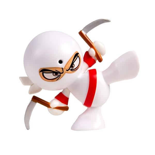 "Фарт Ниндзя.Игрушка ""Пукающий"" Ниндзя белый с серпами.TM Fart Ninjas - фото 8295"