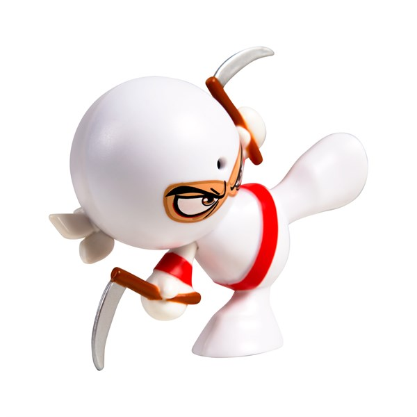 "Фарт Ниндзя.Игрушка ""Пукающий"" Ниндзя белый с серпами.TM Fart Ninjas - фото 8296"