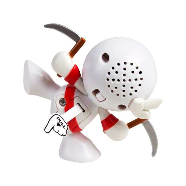"Фарт Ниндзя.Игрушка ""Пукающий"" Ниндзя белый с серпами.TM Fart Ninjas - фото 8297"