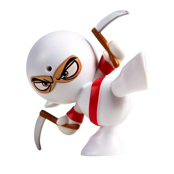"Фарт Ниндзя.Игрушка ""Пукающий"" Ниндзя белый с серпами.TM Fart Ninjas - фото 8298"