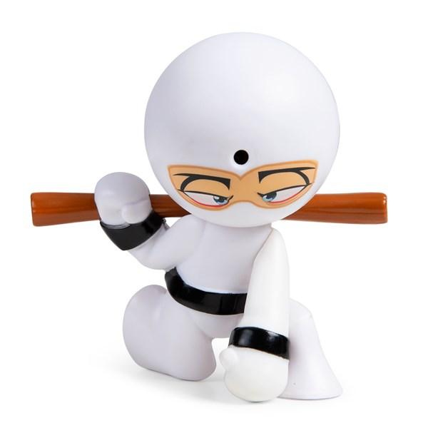 """Фарт Ниндзя.Игрушка """"Пукающий"""" Ниндзя белый с шестом.TM Fart Ninjas - фото 8302"""