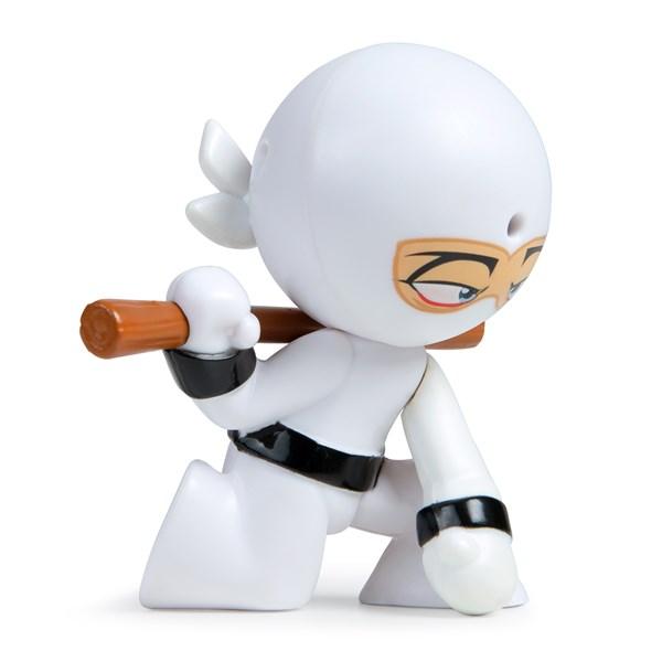 """Фарт Ниндзя.Игрушка """"Пукающий"""" Ниндзя белый с шестом.TM Fart Ninjas - фото 8303"""