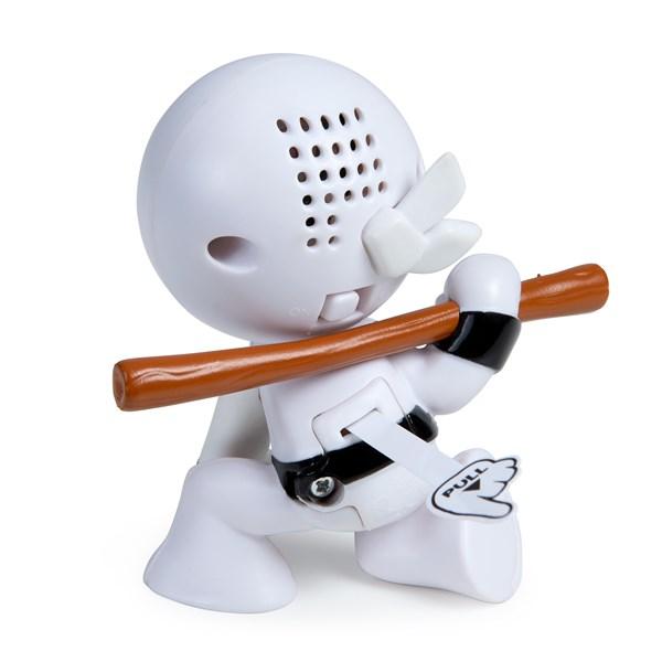 """Фарт Ниндзя.Игрушка """"Пукающий"""" Ниндзя белый с шестом.TM Fart Ninjas - фото 8304"""