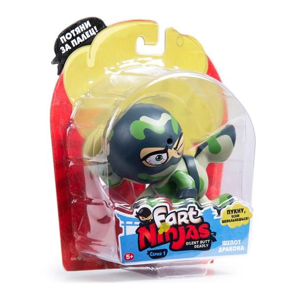 "Фарт Ниндзя.Игрушка ""Пукающий"" Ниндзя боковой удар хаки.TM Fart Ninjas - фото 8311"