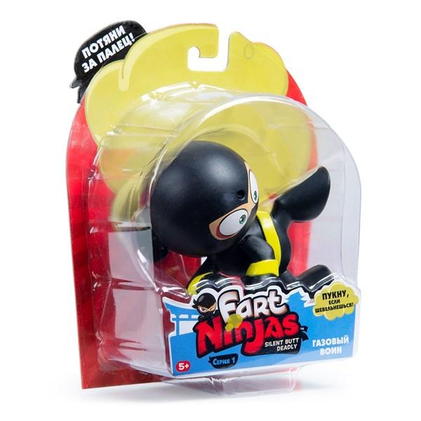 """Фарт Ниндзя.Игрушка """"Пукающий"""" Ниндзя боковой удар черн.TM Fart Ninjas - фото 8313"""