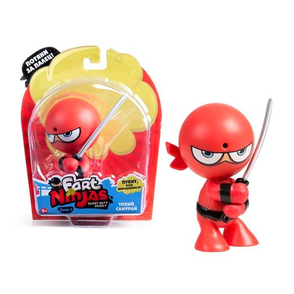 """Фарт Ниндзя.Игрушка """"Пукающий"""" Ниндзя красный с мечом.TM Fart Ninjas - фото 8317"""