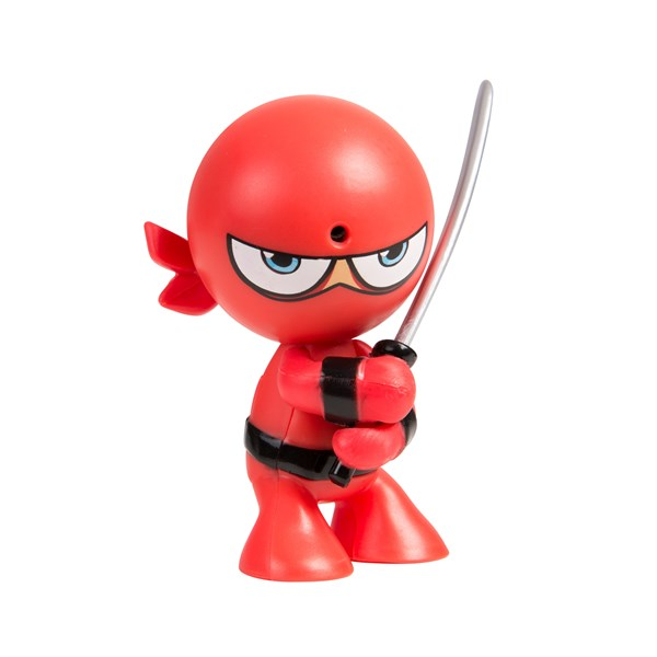 """Фарт Ниндзя.Игрушка """"Пукающий"""" Ниндзя красный с мечом.TM Fart Ninjas - фото 8320"""