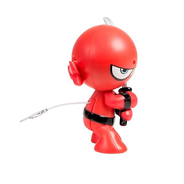 """Фарт Ниндзя.Игрушка """"Пукающий"""" Ниндзя красный с мечом.TM Fart Ninjas - фото 8321"""