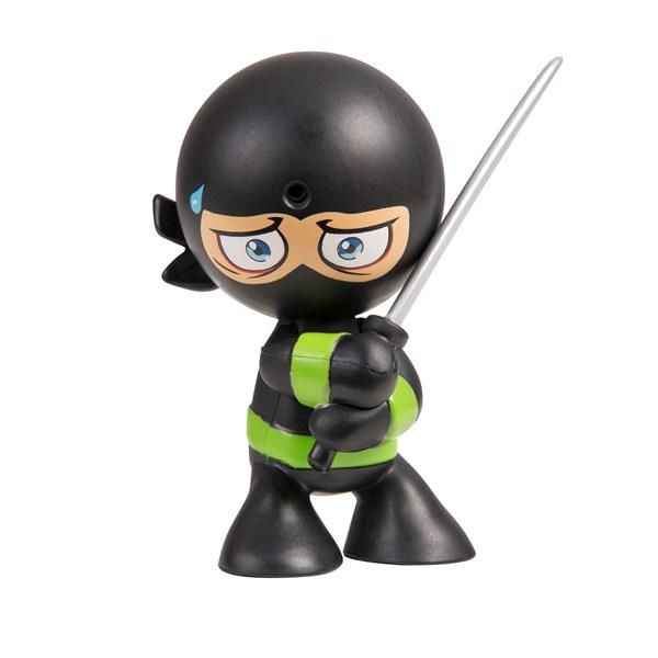 """Фарт Ниндзя.Игрушка """"Пукающий"""" Ниндзя черн. с мечом.TM Fart Ninjas - фото 8324"""