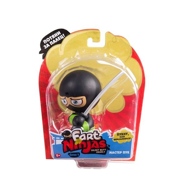 """Фарт Ниндзя.Игрушка """"Пукающий"""" Ниндзя черн. с мечом.TM Fart Ninjas - фото 8327"""