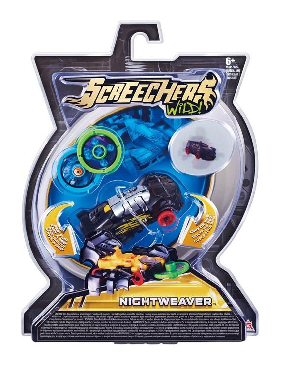 Дикие Скричеры. Машинка-трансформер Найтвивер л1 ТМ Screechers Wild - фото 8596