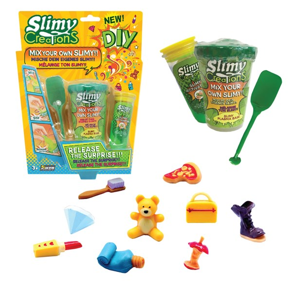 Слайми. Набор для создания слайма с игрушкой, зеленый. ТМ Slimy - фото 8635