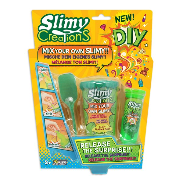 Слайми. Набор для создания слайма с игрушкой, зеленый. ТМ Slimy - фото 8636