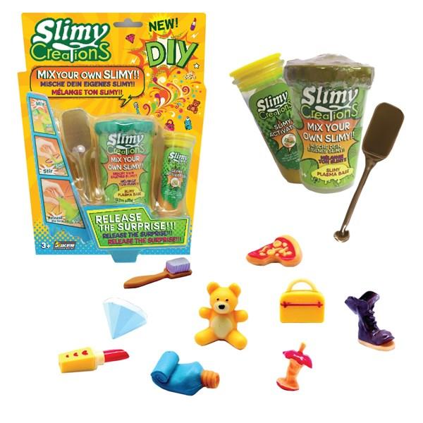Слайми. Набор для создания слайма с игрушкой, золотой. ТМ Slimy - фото 8637