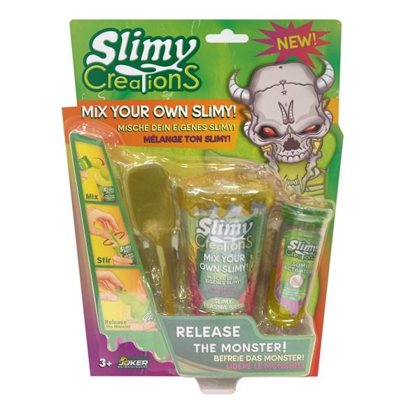 Слайми. Н-р для создания слайма Монстры с игрушкой, золотой. ТМ Slimy - фото 8642