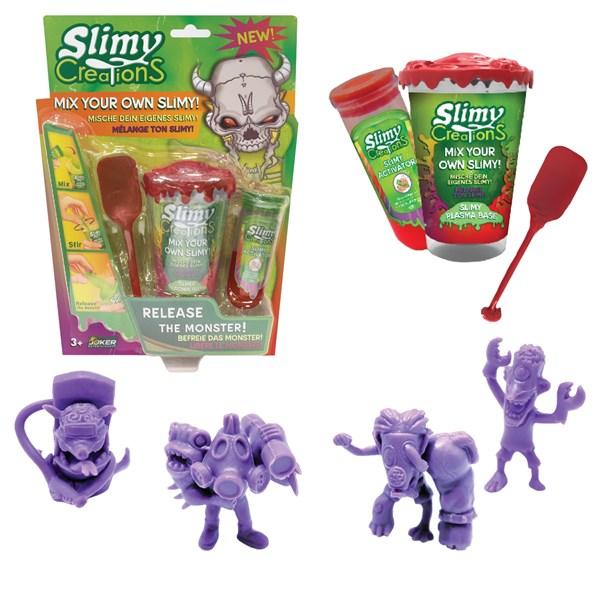 Слайми. Н-р для создания слайма Монстры с игрушкой, красный. ТМ Slimy - фото 8643