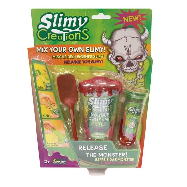 Слайми. Н-р для создания слайма Монстры с игрушкой, красный. ТМ Slimy - фото 8644