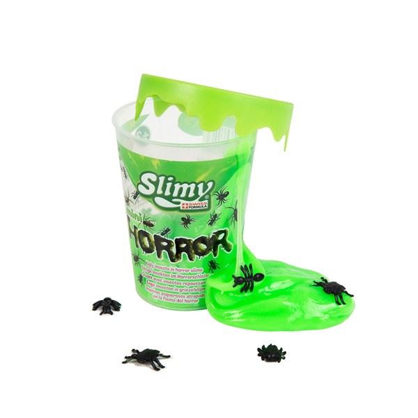 Слайми. Слайм Ужастики с игрушкой, зеленый, 80 г. ТМ Slimy - фото 8649