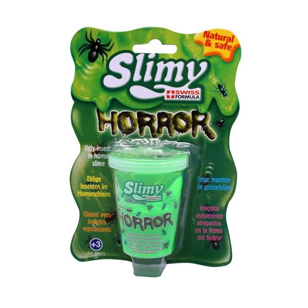 Слайми. Слайм Ужастики с игрушкой, зеленый, 80 г. ТМ Slimy - фото 8650