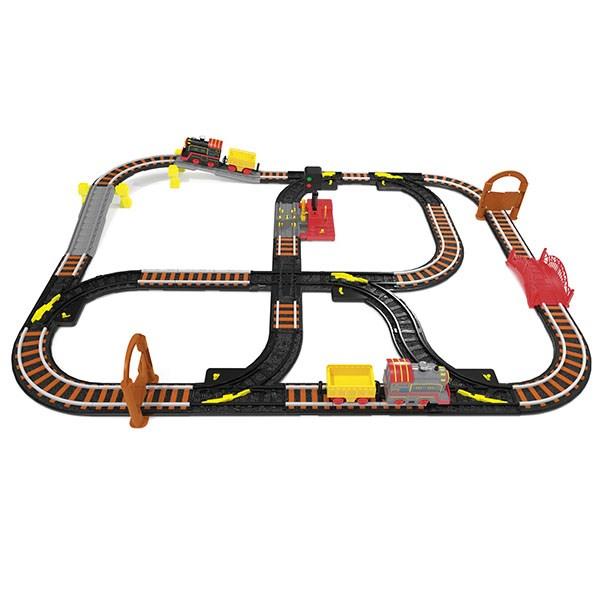 Wincars Магистраль Железная дорога с двумя паровозами и семафором - фото 8694