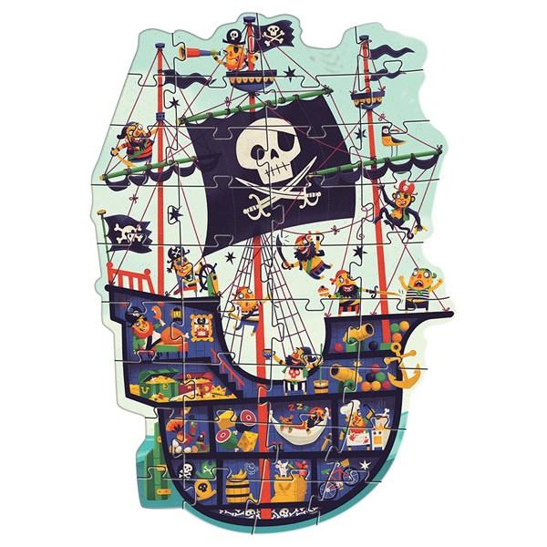 Djeco Пазл гигант, 36 дет., Пиратский корабль - фото 8746