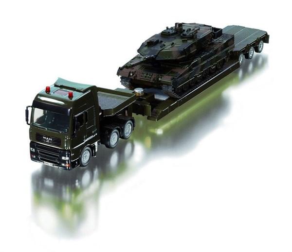 SIKU Грузовик-тягач военный с танком (1:55) - фото 8762