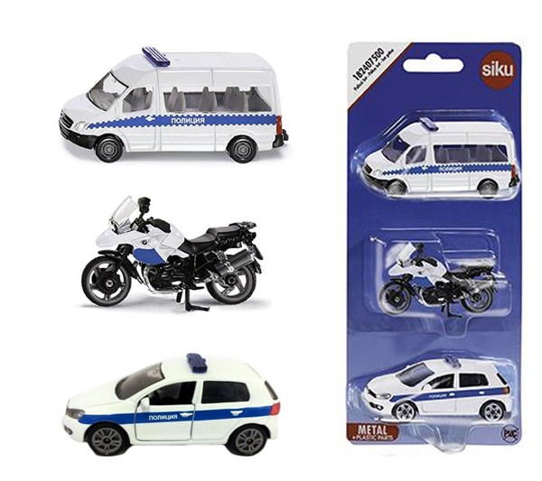 SIKU Набор машинок Полиция - фото 8771