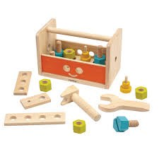 PLAN TOYS Ящик для инструментов Робот - фото 8799