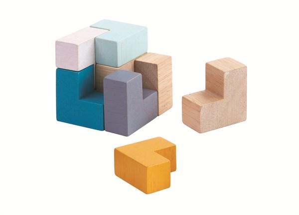 PLAN TOYS Настольная игра. 3D пазл - Куб - фото 8810