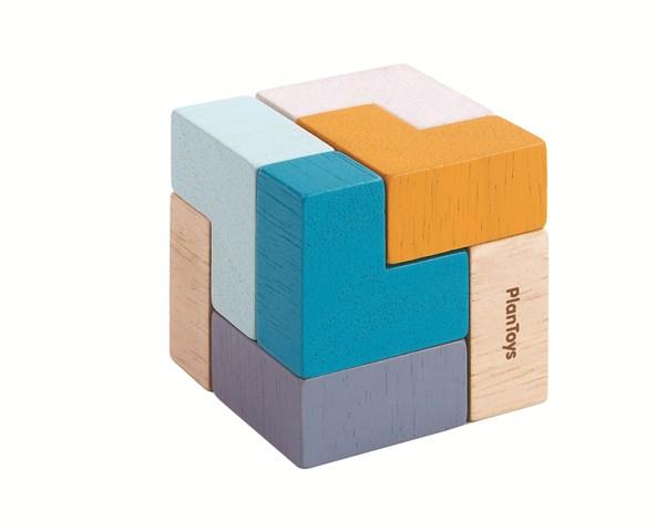 PLAN TOYS Настольная игра. 3D пазл - Куб - фото 8811