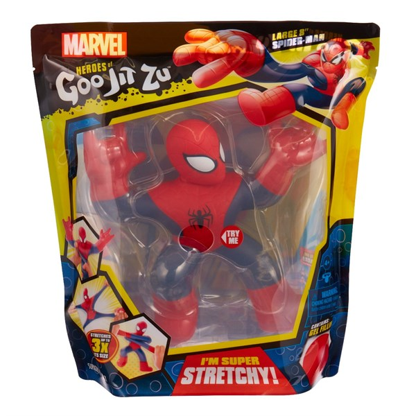 Гуджитсу. Игрушка тянущаяся большая фигурка Человек-Паук. ТМ GooJitZu - фото 9611