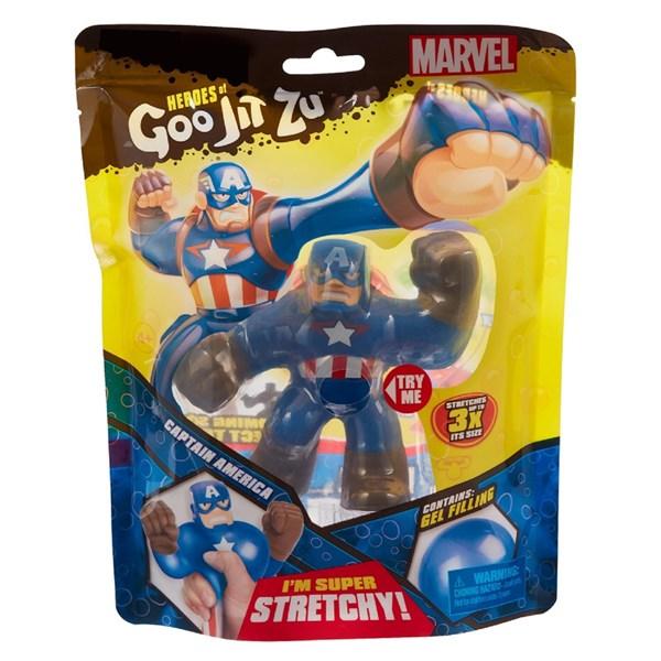 Гуджитсу. Игрушка тянущаяся фигурка Капитан Америка. ТМ GooJitZu - фото 9615