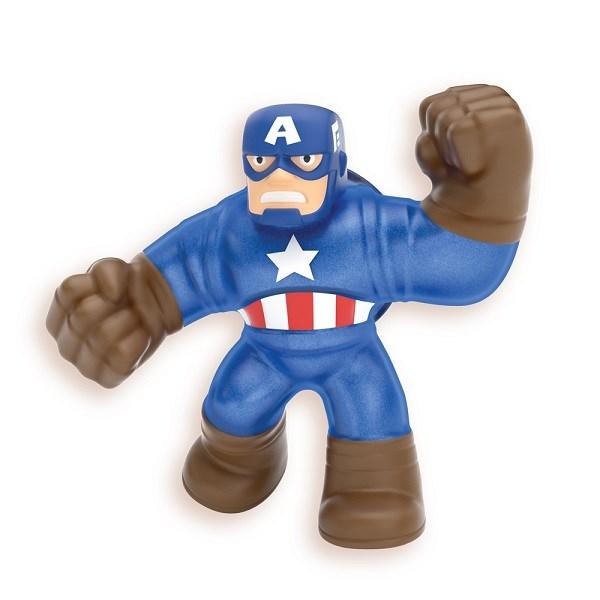 Гуджитсу. Игрушка тянущаяся фигурка Капитан Америка. ТМ GooJitZu - фото 9616