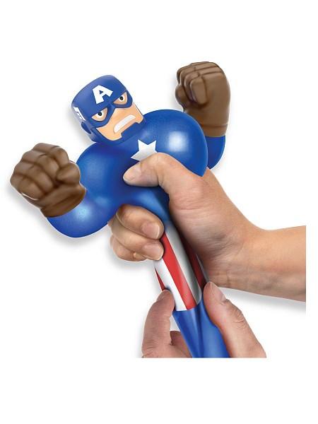 Гуджитсу. Игрушка тянущаяся фигурка Капитан Америка. ТМ GooJitZu - фото 9617