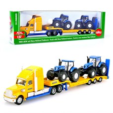 SIKU Грузовик с двумя тракторам New Holland (1:87)