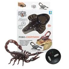 1 toy Игрушка Робо-Скорпион  (коричневый) на ИК Управлении, с зарядкой от пульта, пульт работает от 3*АА бат.(в компл не входят),27*17,5*7,5см