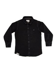RUFF Рубашка черная джинса