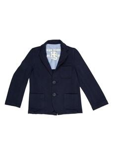 RUFF Пиджак трикотажный синий